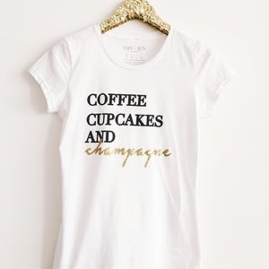 Boutique Coffee Cupcakes and Champagne tee, S&M