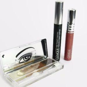 Clinique - Eye Shadow, Mascara & Lip Gloss Bundle
