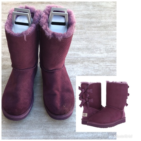 54140564e2c UGG BOOT BAILEY BOW EXOTIC SCALES SIZE: 10