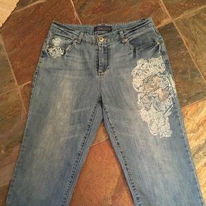 Blue jean capris