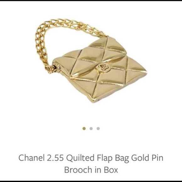 62747ea4313176 CHANEL Jewelry | Authentic 255 Quilted Flap Bag Brooch | Poshmark