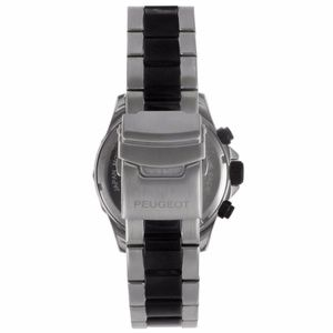 Peugeot Accessories - Peugeot Mens Black Stainless Steel Link Watch