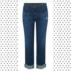 j brand slim boyfit jeans rigid denim NWOT cuff 27