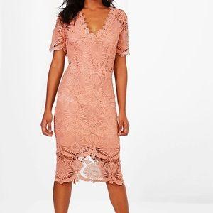 BooHoo Boutique Lace Midi Dress
