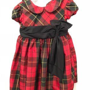 Ralph Lauren infant girls red plaid dress sz 18m