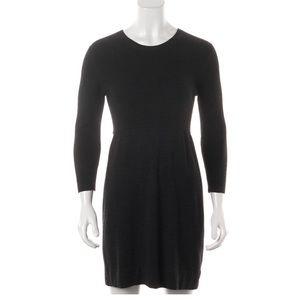 Theory Hannyi Steady Black Wool Sweater Dress S