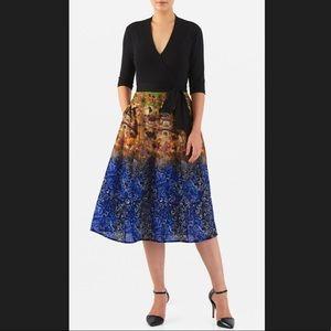 New Eshakti Fit & Flare Scene Dress XL 16