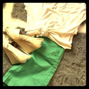 NWOT Green Bermuda shorts from JCrew size 2