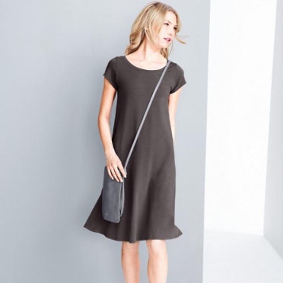 a31f104d04377 Eileen Fisher Dresses   Skirts - •Eileen Fisher• Organic Cotton Ballet Neck  Dress