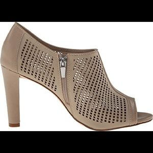 Calvin Klein Shoes - Calvin Klein Nude tan Kallie open toe bootie heel