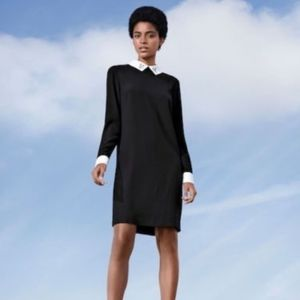 VICTORIA BECKHAM b/w sheath dress — size XS