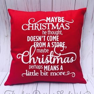 other grinch stole christmas decorative pillow