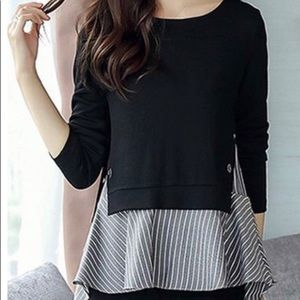 Tops - Long Sleeve Two Piece Tunic