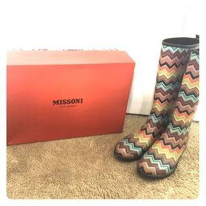 Missoni x Target rainboots