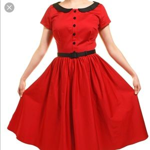 Pinup Couture Red Dee Dee Dress