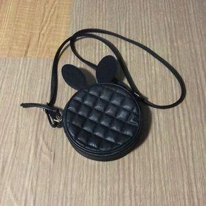 ASOS Black Bunny Ears Quilted Crossbody Bag
