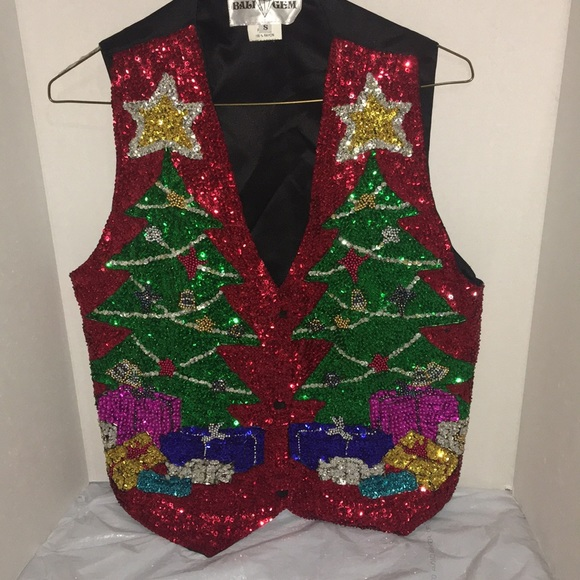 Christmas Vest.Vintage Bali Gem Christmas Vest Sz S