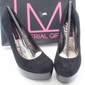 Material Girl Black Pump Heels Muse Platform