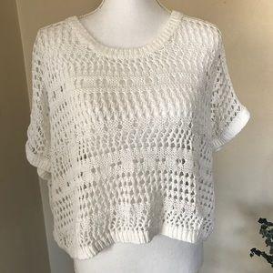 Jennifer Lopez, Crochet sweater, off white. Size L