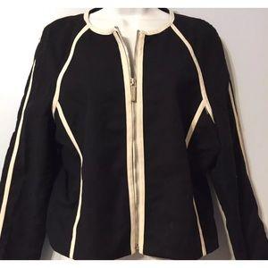 Michael Kors Black Fully Lined Jacket Sz Large
