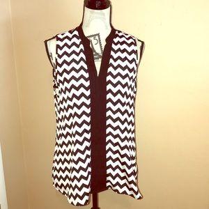 Neiman Marcus Black and White sleeveless top