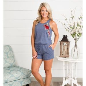 Pants - Rose design romper new