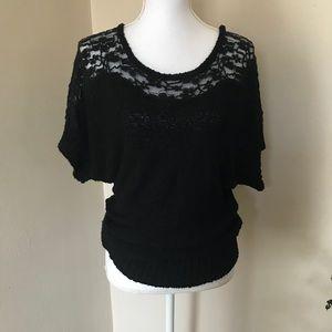 Jennifer Lopez, Black, Lace Sweater...Size SM