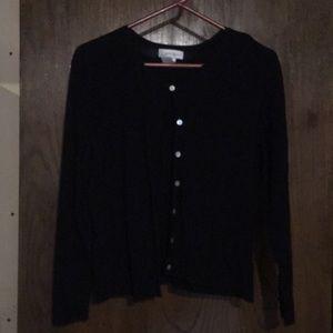 Worthington black cardigan SZ:L