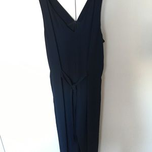 Zara navy wide leg jumpsuit M