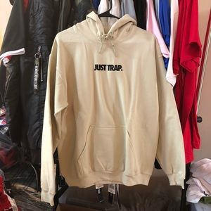 Just Trap Hoodie - Beige w/ Black