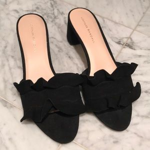 Loeffler Randall Vera black suede shoes 9.5