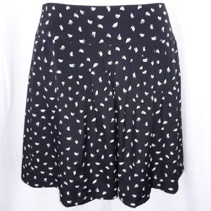 🆕️Ann Taylor Loft Black Ivory Feather Skirt 4P