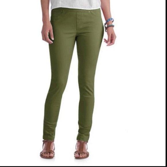 baefd1359ef6e Faded Glory Pants - 🆕 Faded Glory olive green jeggings