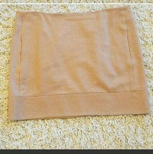 Kenar wool blend tan skirt