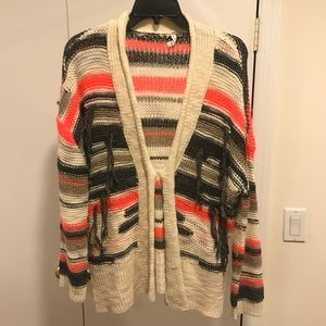 Willow & clay multi colored warm cardigan