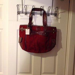 Fossil red handbag