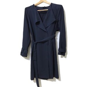 H&M Blue Trench Coat