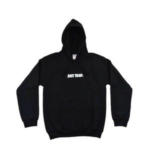 Other - 🚫Sold🚫Just Trap Hoodie - Black w/ White
