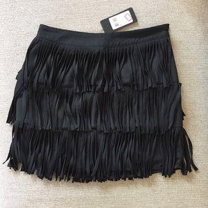 GUESS Francis fringe mini skirt black XS
