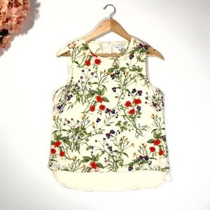 Rose + Olive Sleeveless Floral Blouse Size M