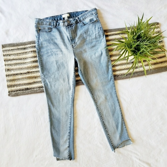 8bd0dba8874cf Forever 21 Denim - Plus Size Cutoff Ankle Skinny Jeans