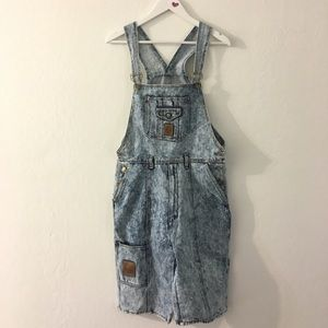 NWT Vintage dead stock acid wash cropped Overall