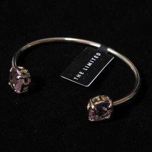 NWT Gold with pink stone bracelet.  LTDB94
