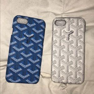 Blue Goyard iPhone Case