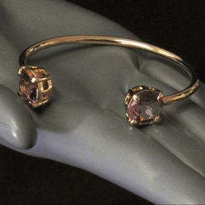 NWOT Gold with pink stone bracelet.  LTDB94nc