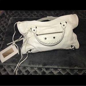 Balenciaga City bag in white. EUC