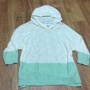 Sparrow Anthropologie Cream/Mint Green Sweatshirt