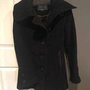 wool, fitted cold weather dress coat