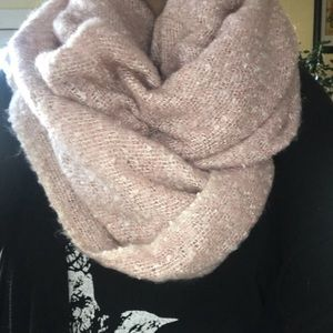 Extra soft, extra long pink scarf