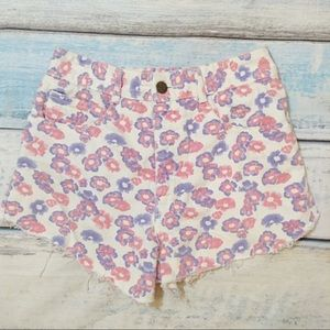 VINTAGE GUESS High Waisted Floral Print Shorts